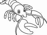 Lobster Drawing Line Getdrawings Coloring sketch template