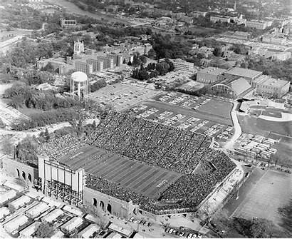 Iowa University Stadium Kinnick Field Above Aerial