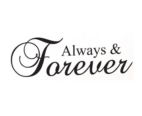 Always And Forever the difference between words always and forever