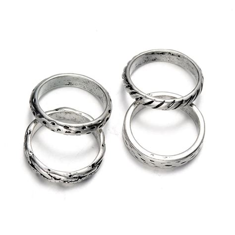 Fashion Rings Women's Silver Plating Ring Set Hoop