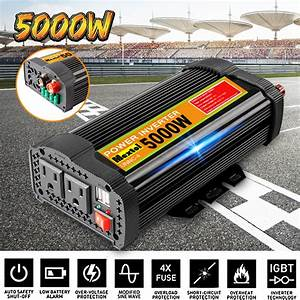 5000w 12v Dc To 110v Ac Solar Power Inverter Converters
