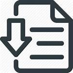 Icon Save Document Doc Down Icons Arrow