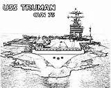 Coloring Carrier Aircraft Pages Ship Cvn Truman Navy Plane Take Attack Coloringsky sketch template