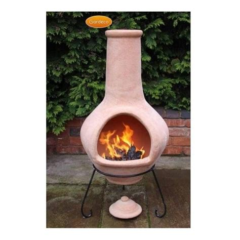 Terracotta Chiminea For Sale by Tibor Jumbo Terracotta Chiminea Large Belly And