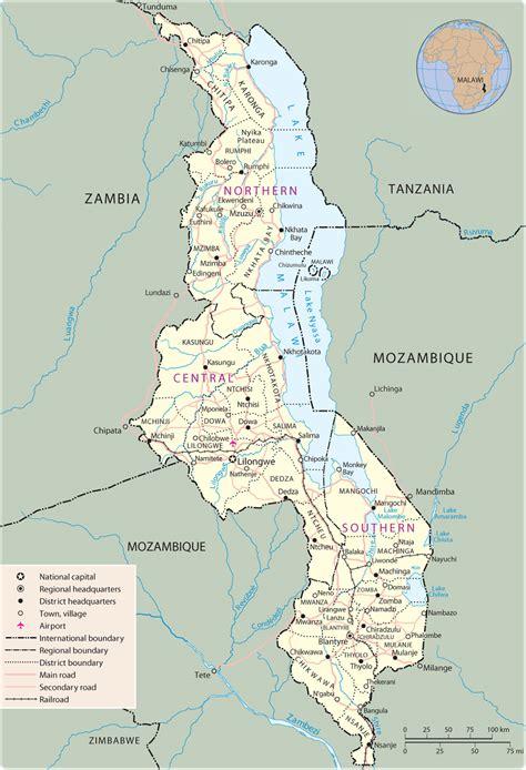 malawi karte geschichte
