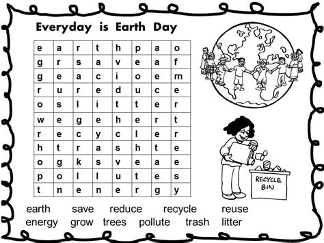 free earth day activities free earth day printable word