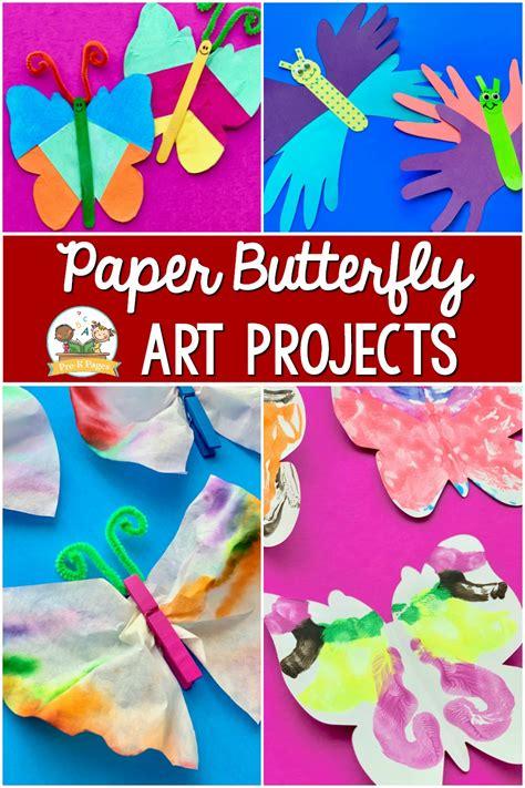 easy paper butterfly art projects  preschoolers pre