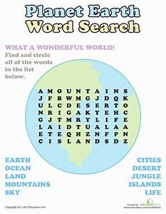 Word Search: Planet Earth | Worksheet | Education.com