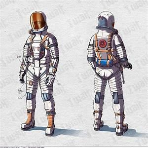 Futuristic Space Suit Concept Art Girls - Pics about space