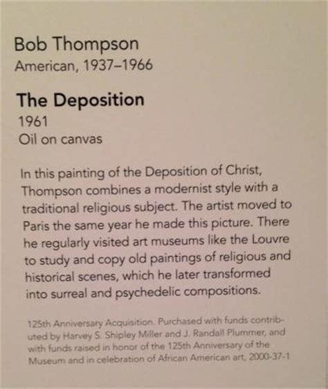 Description Of Artwork by A Description Of The Deposition Picture Of Philadelphia