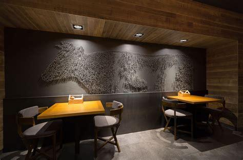 village restaurant interior design grits grids