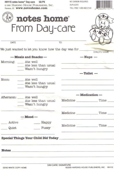 home daycare forms printable daycare daily report sheets infant reports for printable
