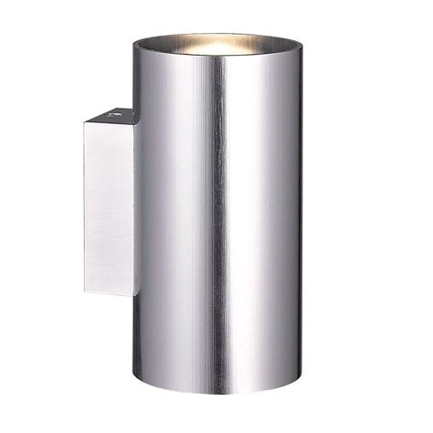 eurofase rotondo collection 2 light brushed aluminum