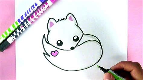 dessin renard facile comment dessiner un renard blanc kawaii dessin facile