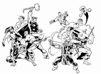 Avengers Coloring Pages Fighting Avenger Printable Marvel
