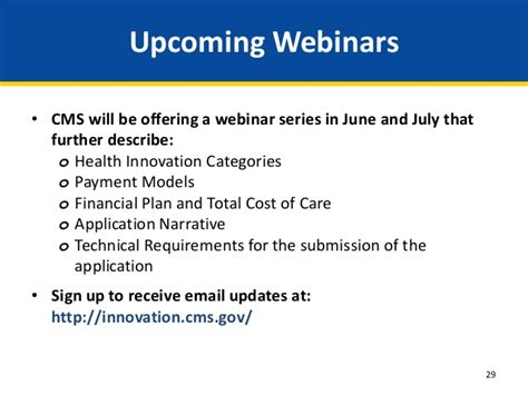 Webinar Health Care Innovation Awards Round Two Overview