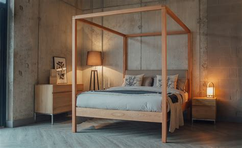 futon uk highland upholstered 4 poster bed bed company