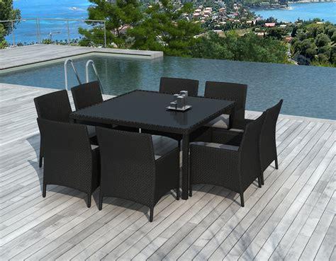 table de jardin 8 personnes table et chaises de jardin 8 personnes en r 233 sine tress 233 e