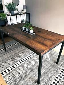 Tischgestell Holz Selber Bauen : diesen tisch habe ich aus alten holzbohlen und einem alten tischgestell selber gebaut tisch ~ Watch28wear.com Haus und Dekorationen