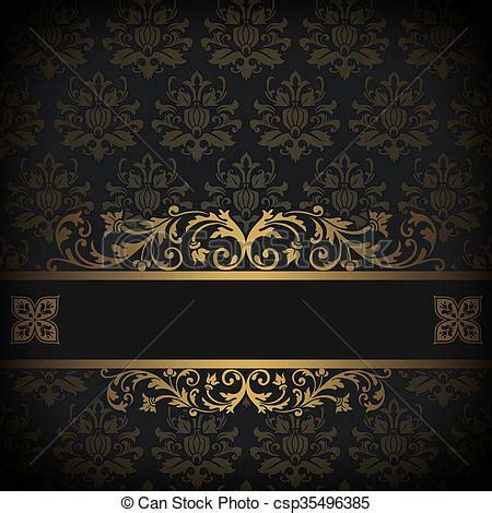 Bild Schwarz Gold by Dekorativ Hintergrund Schwarz Gold Gold Weinlese
