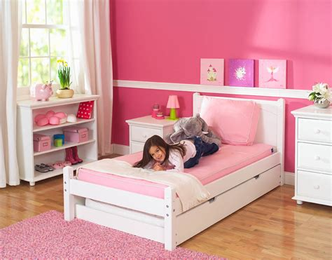 White Platform Bed By Maxtrix Kids (shown W/ Trundle Bed
