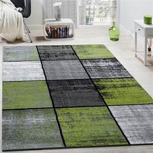 Teppich Grün Grau : designer teppich modern kurzflor karos speziell meliert grau schwarz gr n wohn und schlafbereich ~ Markanthonyermac.com Haus und Dekorationen