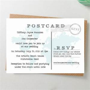 world map wedding invitation postcard by paper and inc With wedding invitations picture postcard style