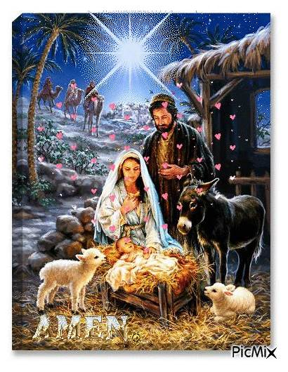 Nativity Scene Holy Scenes Jesus Born Angels