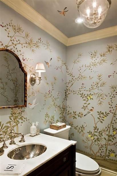 Interior Bathroom Decor Wall Paper Trending Chinoiserie