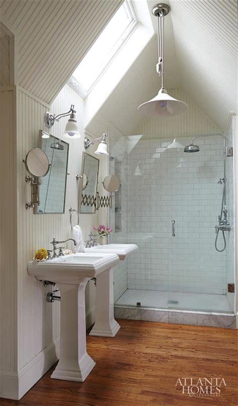attic bathroom ideas cottage bathroom atlanta homes lifestyles