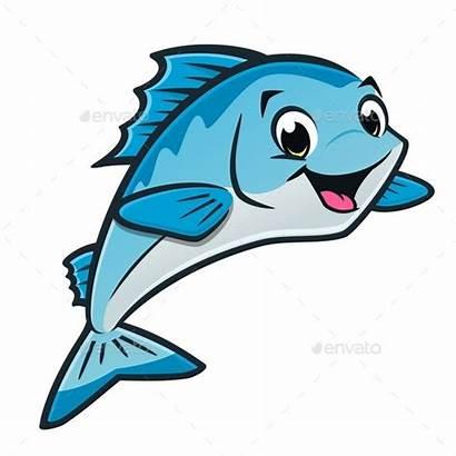 Fish Cartoon Drawing Happy Vector Animals Characters
