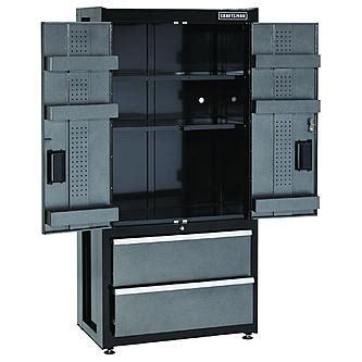 heavy duty garage cabinets craftsman premium heavy duty floor cabinet trio