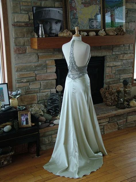 sexy  style silver racerback wedding dresses view