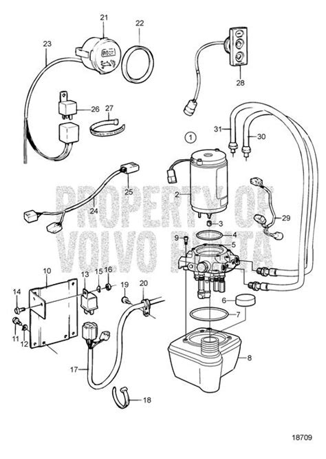 volvo penta exploded view schematic hydraulic pump