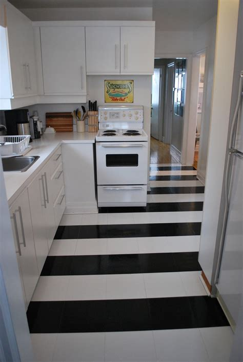 Splashy peel and stick vinyl tile in Kitchen Contemporary