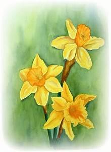 Daffodils - watercolor painting 1985 | My Portfolio ...
