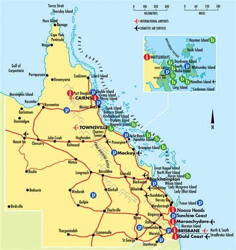 queensland tourist map sunshine coast australia
