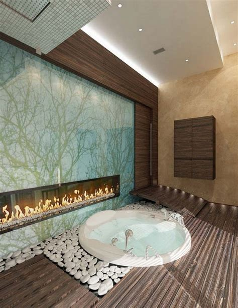 luxury bathrooms  fireplaces inspiration  ideas