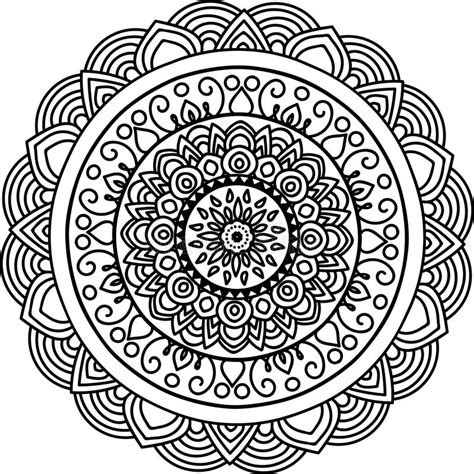 mandala rond illustration stock illustration du croquis