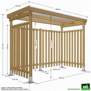 überdachung Für Grill : ghs unterstand 3x1 5 m f r kaminholz und grill oder ~ Lizthompson.info Haus und Dekorationen