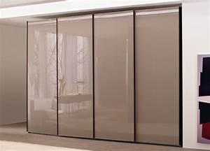 Lacquered Glass Sliding Door Wardrobe Sliding Door Wardrobes