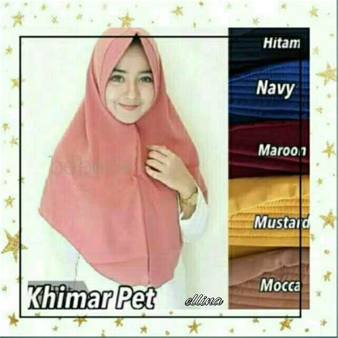 khimar simple pet khimar pet antem instan wolfis