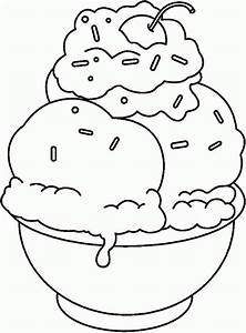 Banana Split Coloring Page - AZ Coloring Pages