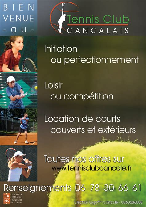 Plan Du Site  Tennis Club De Cancale