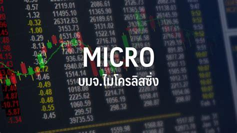 MICRO ออกหุ้นกู้ 1 พันลบ.ดอกเบี้ย 5.25 -5.50% ขายสถาบัน ...