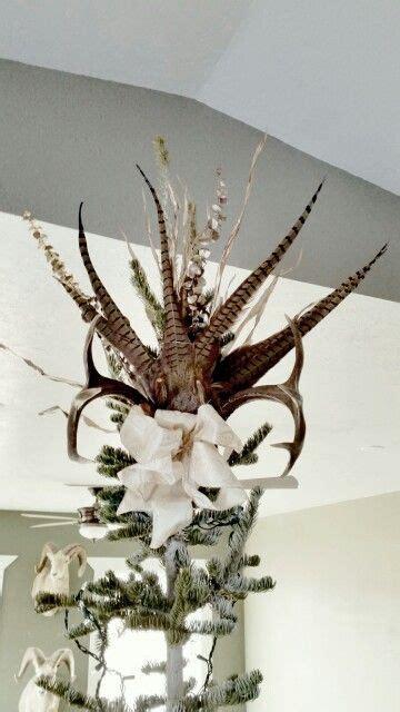 pheasant deer antler tree topper christmas pinterest