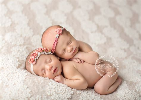 adorable twin girls austin newborn photographer ella