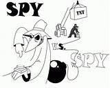 Spy Vs Coloring Deviantart Pages Popular sketch template