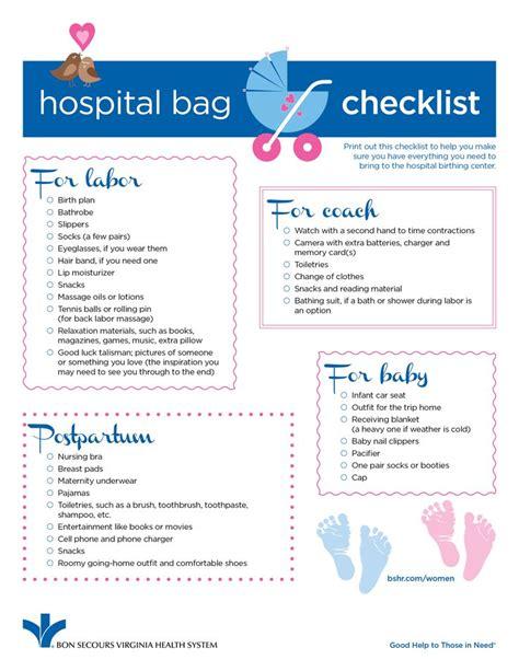 hospital bag checklist   moms   items