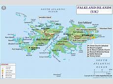 Falkland Islands Map, Map of Falkland Islands